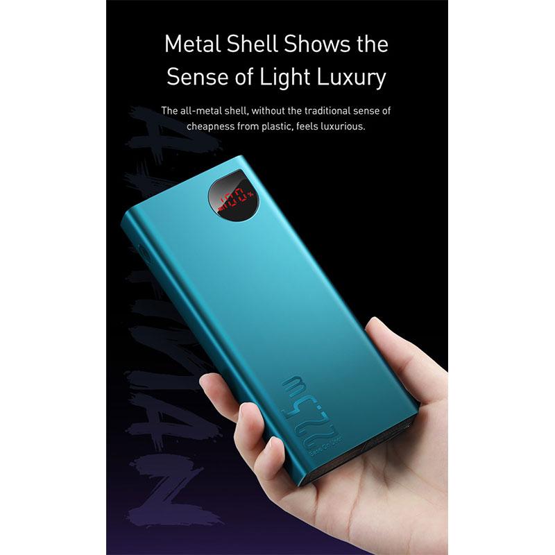 پاور بانک فست شارژ بیسوس Baseus Adaman Metal Digital Display 20000mAh