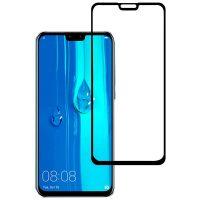 محافظ صفحه نمایش شیشه ای گلس هواوی Y9 2019 تمام چسب و تمام صفحه Full Glass Screen Protector Huawei Y9 2019