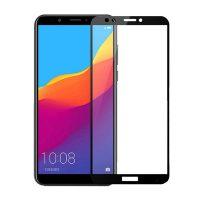 محافظ صفحه نمایش شیشه ای گلس هواوی Y6 Prime 2018 تمام چسب و تمام صفحه Full Glass Screen Protector Huawei Y6 Prime 2018