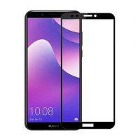 محافظ صفحه نمایش شیشه ای گلس هواوی Y7 Prime 2018 تمام چسب و تمام صفحه Full Glass Screen Protector Huawei Y7 Prime 2018
