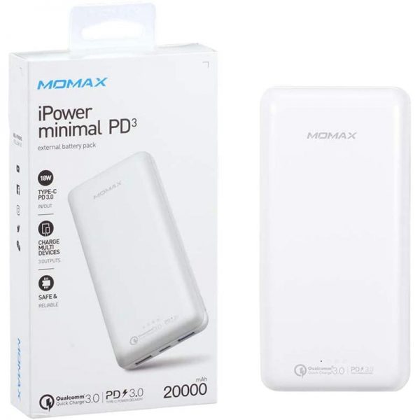 پاوربانک مومکس ۲۰۰۰۰ میلی آمپر iPower Minimal IP70 PD3 20000 mAh Power Bank