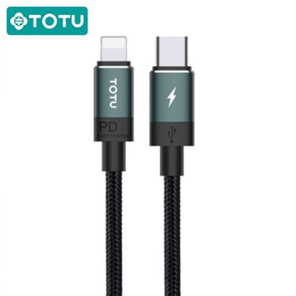 کابل شارژ سریع لایتنینگ توتو TOTUDESIGN Speedy Series BPD-001 Lightning to Type-C Cable