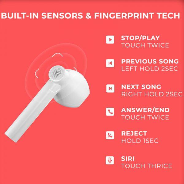 هندزفری بلوتوث کیو سی وای QCY T7 TWS Bluetooth Earphones
