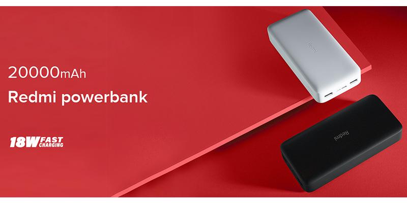 پاوربانک فست شارژ شیائومی گلوبال Xiaomi Redmi PB200LZM 20000mAh PowerBank
