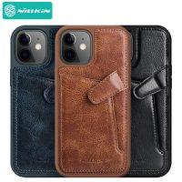 قاب چرمی نیلکین آيفون ۱۲ مینی Nillkin iPhone 12 Mini Aoge Leather Case