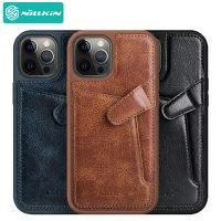 قاب چرمی نیلکین آيفون ۱۲ و ۱۲ پرو Nillkin iPhone 12 , 12 Pro Aoge Leather Case