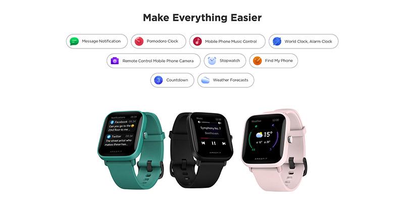 ساعت هوشمند شیائومی Xiaomi Amazfit Bip U Smart Watch گلوبال