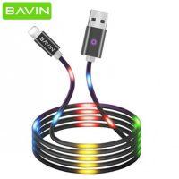 کابل شارژ رقص نور میکرو یو اس بی باوین Bavin CB-139 Led Micro USB Cable 1m