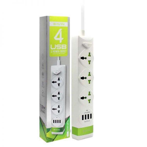 سه راهی برق و شارژ باوین Bavin PC589