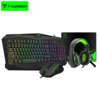 کیبورد , موس , هدست و پد موس گیمینگ T-Dagger T-TGS003 mouse/keyboard/mousepad/headset 4 in 1 Gaming combo