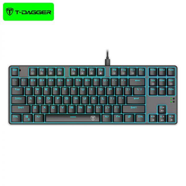 کیبورد سیمی گیمینگ تی دگر T-Dagger Bora T-TGK313 Gaming Mechanical Keyboard Backlight