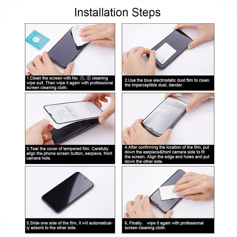 محافظ صفحه نمایش شیشه ای نیلکین سامسونگ Samsung Galaxy A72 5G Nillkin CP+ Pro