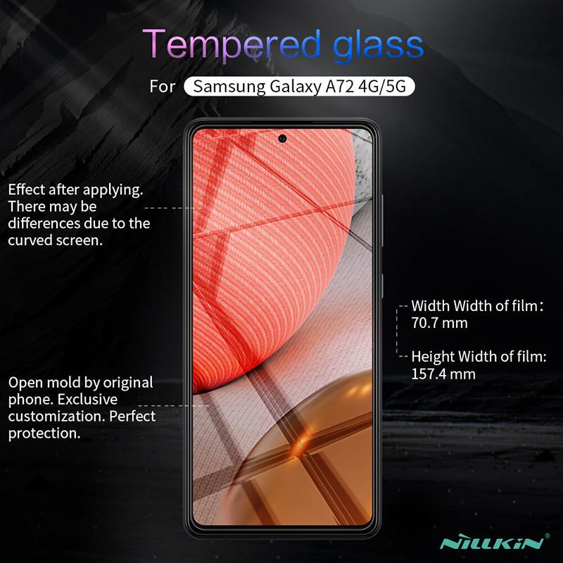 محافظ صفحه شیشه ای نیلکین سامسونگ Samsung Galaxy A72 4G, A72 5G Nillkin H+ Pro