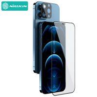 محافظ صفحه نمایش شیشهای و دوربین نیلکین آیفون Nillkin Amazing 2-in-1 HD full screen tempered glassApple iPhone 12 Pro Max 6.7