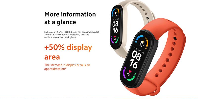 دستبند سلامتی شیائومی Xiaomi Mi Band 6 Smart Band نسخه گلوبال
