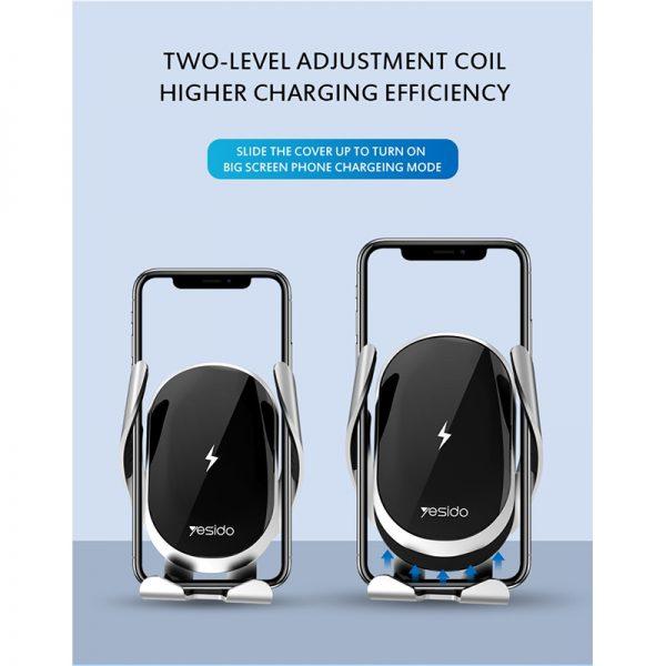 هولدر و شارژر وایرلس یسیدو Yesido C78 Wireless Charger Phone Holder
