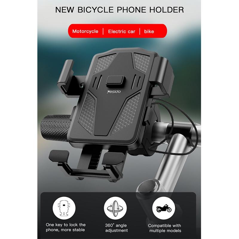 هولدر یسیدو برای دوچرخه و موتور Yesido C94 Rotation Anti-Shake Bicycle Motorcycle Holder