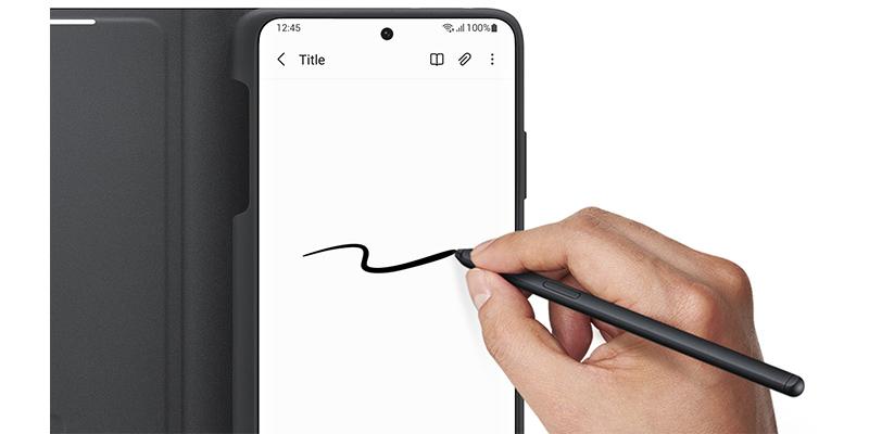 کیف هوشمند اصلی سامسونگ به همراه قلم Samsung Galaxy S21 Ultra Smart Clear View Cover with S-Pen
