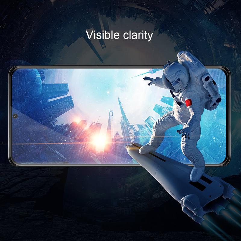 محافظ صفحه شیشه ای تمام صفحه و دورچسب نیلکین سامسونگ Nillkin Amazing 3D CP+ Max Glass Screen For Samsung Galaxy S21 Ultra 5G