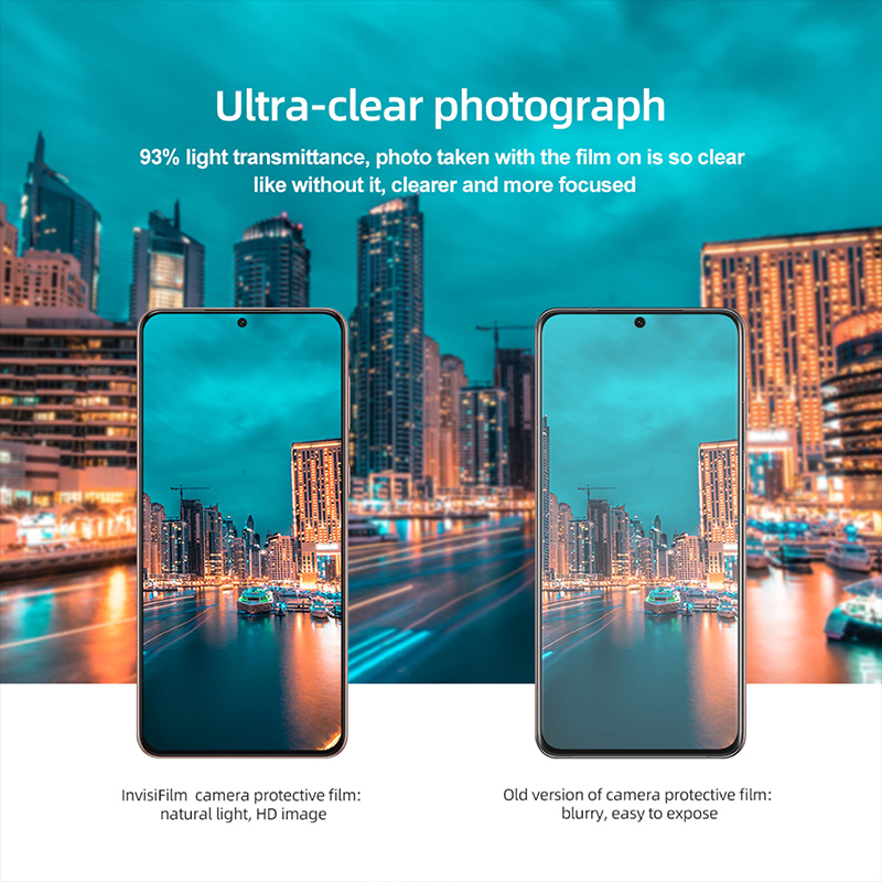 گلس لنز دوربین نیلکین سامسونگ Nillkin InvisiFilm Camera Protector for Samsung Galaxy S21 Ultra