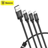 کابل شارژ سه سر بیسوس Baseus CAMLT-PY01 Data Faction 3-in-1 Cable