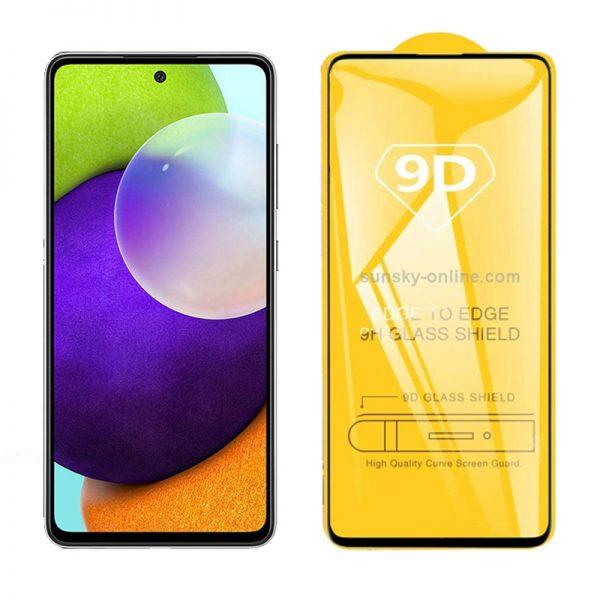 محافظ صفحه نمایش شیشه ای گلس سامسونگ Full Glass 9D Screen Protector Samsung Galaxy A52 5G , A52 4G