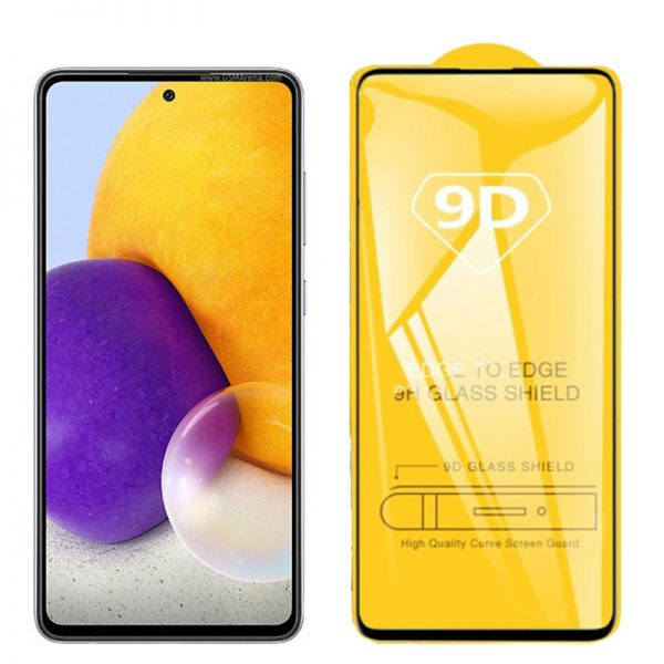 محافظ صفحه نمایش شیشه ای گلس سامسونگ Full Glass 9D Screen Protector Samsung Galaxy A72 4G/5G
