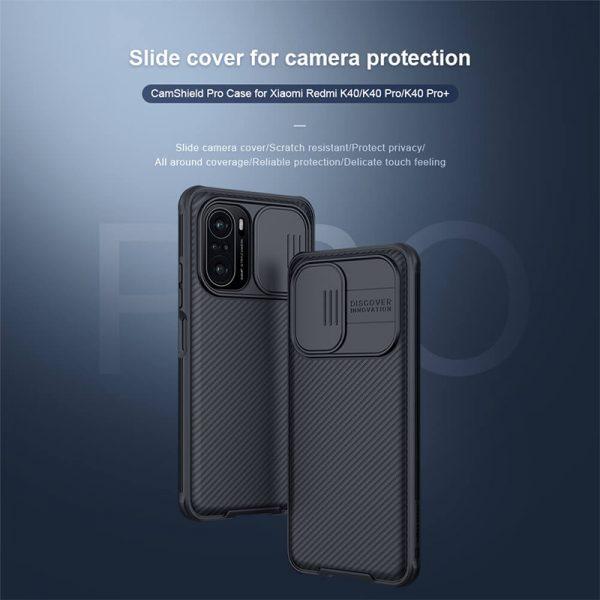 قاب محافظ نیلکین شیائومی Nillkin CamShield Pro Case Xiaomi Redmi K40, K40 Pro, K40 Pro Plus , Mi 11i, Poco F3, Mi 11X, Mi 11 X Pro