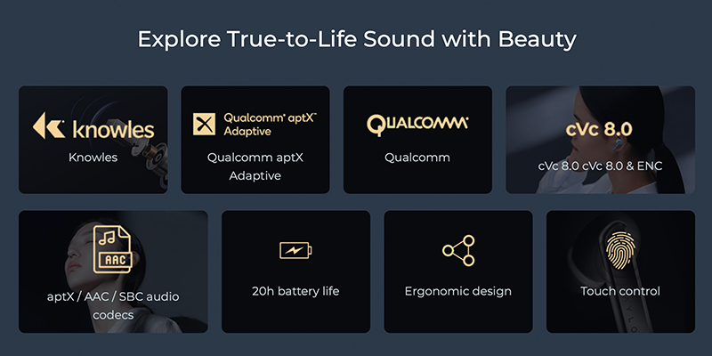 هندزفری بلوتوث شیائومی Xiaomi Haylou W1 / T60 AptX CVC8 TWS Earphones