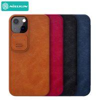 کیف چرمی نیلکین آیفون 13 - Nillkin Qin Pro Leather Case iPhone 13
