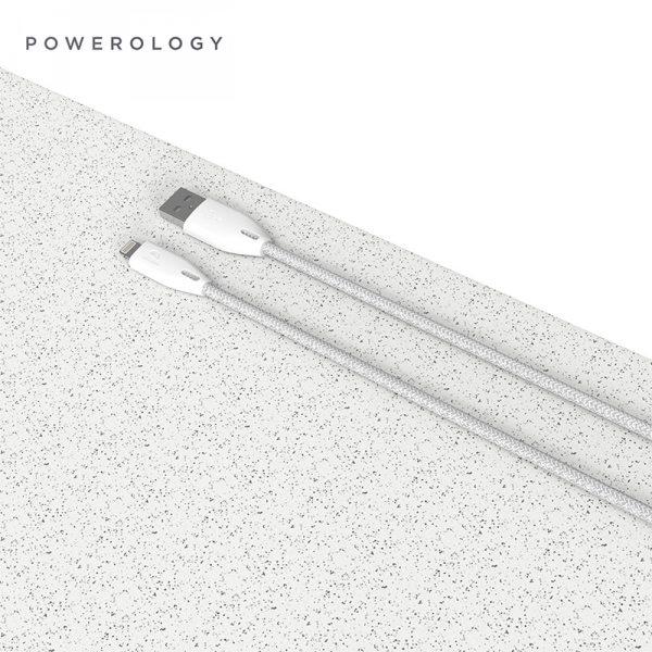 کابل لایتنینگ پاورولوجی Powerology PCAB003 Braided USB-A to Lightning Cable