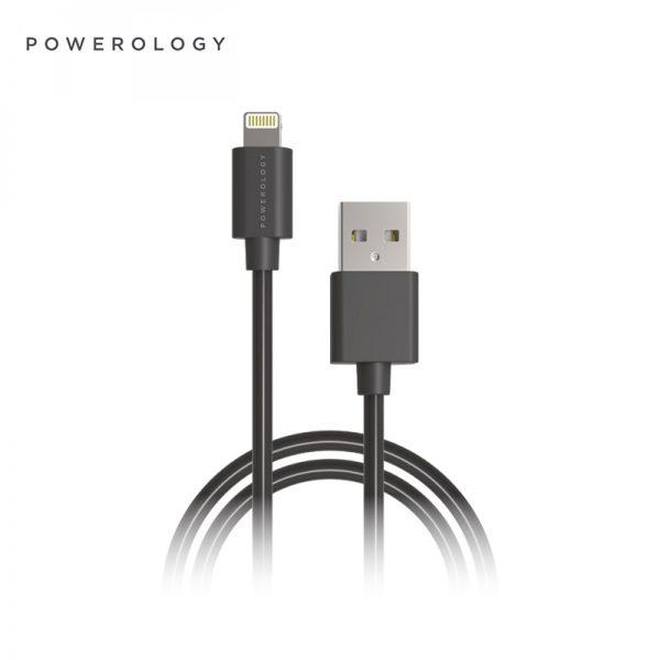 کابل لایتنینگ پاورولوجی ۳ متری Powerology P3BLBK Lightning cable