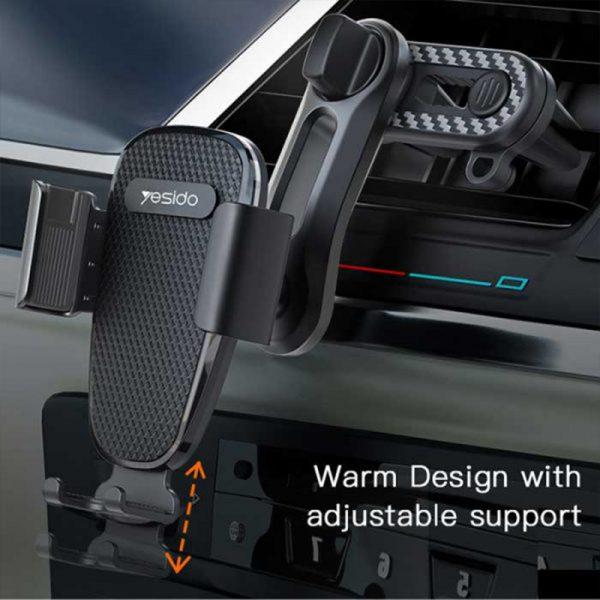 پایه نگهدارنده موبایل دریچه کولری یسیدو Yesido C105 car phone holder