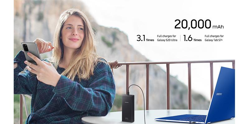 پاوربانک سوپر فست شارژ سامسونگ Samsung 25W Battery Pack 20,000mAh EB-P5300XJEGWW