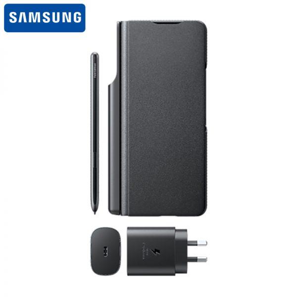 پک اصلی کیف ، قلم و شارژر سامسونگ Samsung Galaxy Z Fold3 5G Note Package